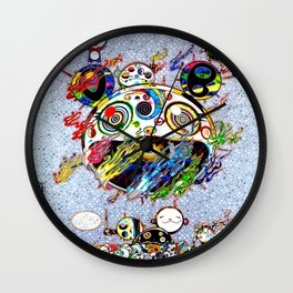 Takashi Murakami with Signature - Chaos Print Wall Clock