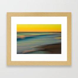Beach Sunset Love Framed Art Print
