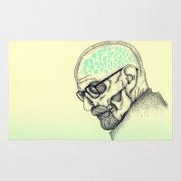 heisenberg Area & Throw Rugs featuring Heisenberg by Mike Koubou