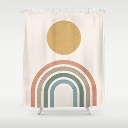 Mid-Century Modern Rainbow Shower Curtain
