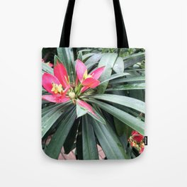 Vibrant Red Flowers Tote Bag