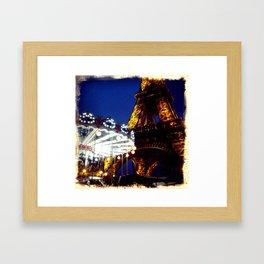 Eiffel Carosel Framed Art Print