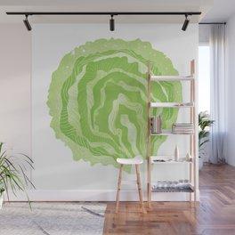 Lettuce Illustration Wall Mural