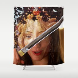 Kill Bill's Elle Driver & Botticelli's Flora Shower Curtain
