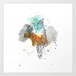 Blauracke Art Print
