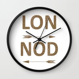 Cool LONDON Typography with arrows Wall Clock
