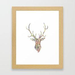Upcycled Reindeer Framed Art Print