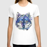 indigo T-shirts featuring Indigo Wolf by Abby Diamond