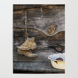 Old Boots and Washtub Poster