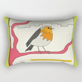 European Robin Rectangular Pillow