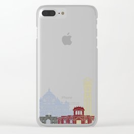 Ahmedabad skyline poster Clear iPhone Case