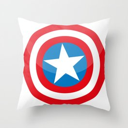 capitan america Throw Pillow