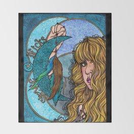 Turquoise Moon Throw Blanket