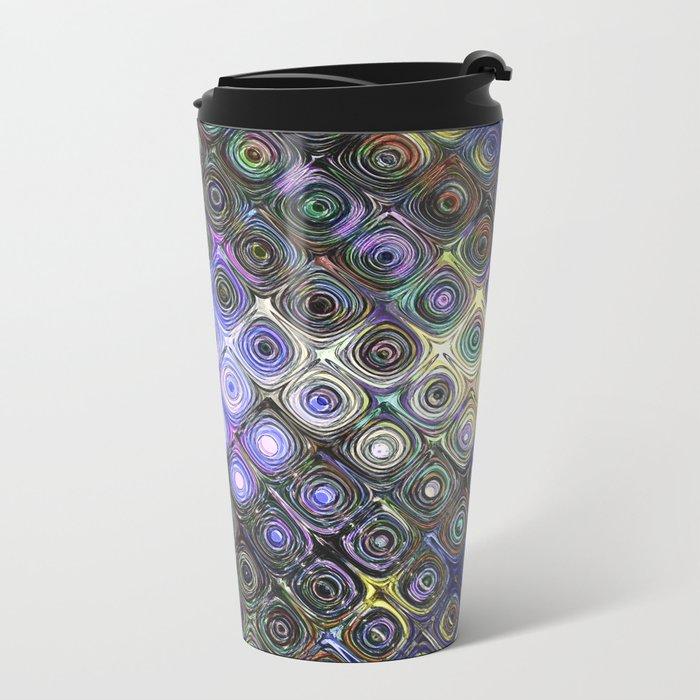 Digital Beads of Glass Metal Travel Mug