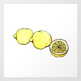 Trois Citrons 2 Art Print