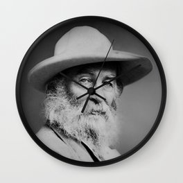 Walt Whitman Portrait Wall Clock