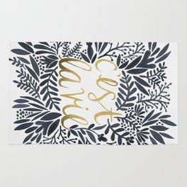 C'est la Vie – Grey & Gold Rug