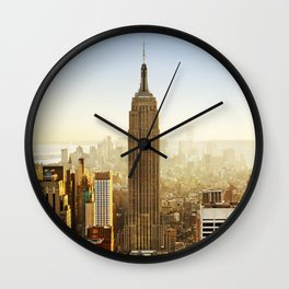 Empire State Building In Manhattan New York City Wall Clock