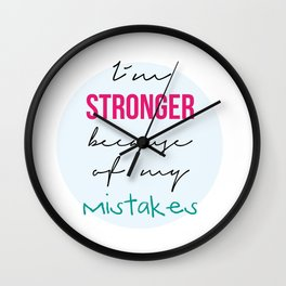 I´m stronger Wall Clock