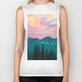 Holographic Sky #digitalart #nature Biker Tank