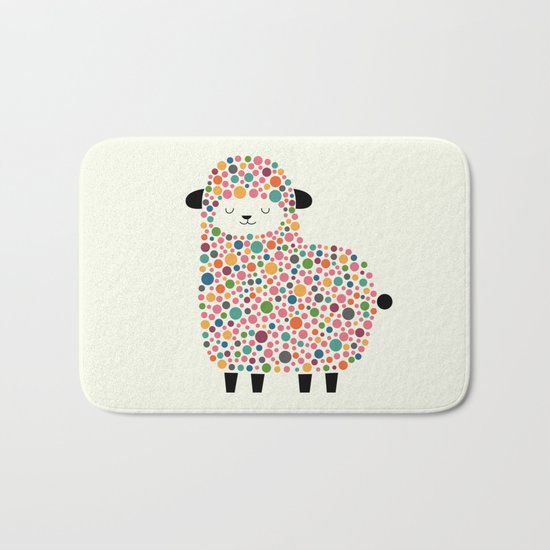Bubble Sheep Bath Mat