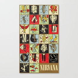 A Very Unofficial Nirvana A-Z Canvas Print