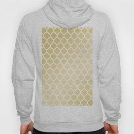Stylish chic white gold gradient quatrefoil pattern Hoody