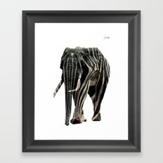Elephant spy logo noir urban fashion culture Jacob's 1968 Paris Agency Framed Art Print