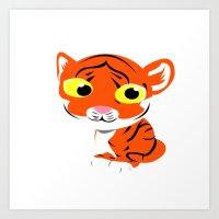 little tiger Art Print