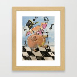 Pig Jig Framed Art Print