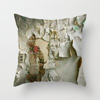 detroit Throw Pillows featuring Detroit Kitsch by Riot Jane