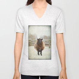 Zombie sheep Unisex V-Neck