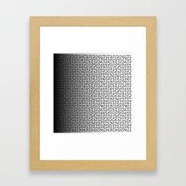 black dots Framed Art Print