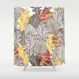 autumn leves Shower Curtain