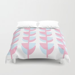 Tulips In Amsterdam - Pink and Blue Duvet Cover