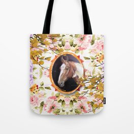 Paint Horse in the Botanical Garden Tote Bag