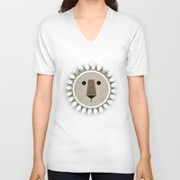 narnia V-neck T-shirts featuring The Lion, the Witch and the Wardrobe by Rowan Stocks-Moore