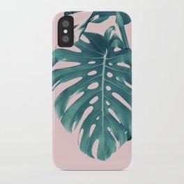 Monstera Delight #3 #tropical #decor #art #society6 iPhone Case