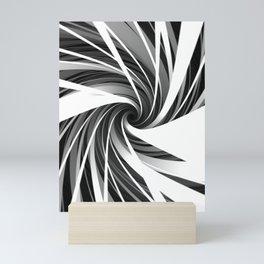 Swirling monochrome funnel Mini Art Print