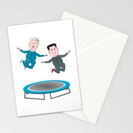 Trump and Kim Jong Un Stationery Cards