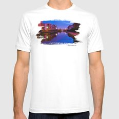 The swans silenced MEDIUM White Mens Fitted Tee