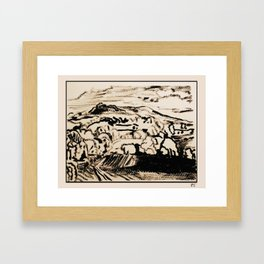 black view Framed Art Print