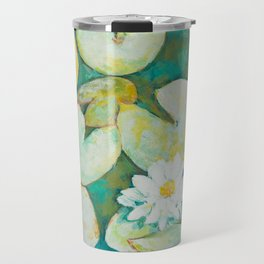 Serene Lily Pond Travel Mug