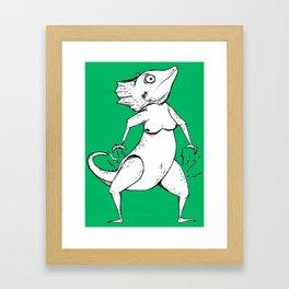 Lizard Queen Framed Art Print