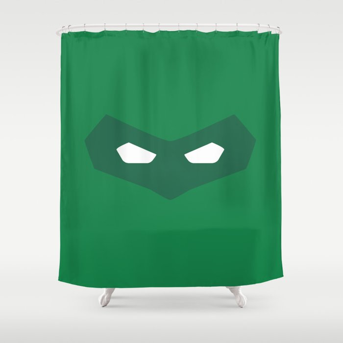 Green Lantern Superhero Shower Curtain By Motadacruz