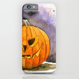 It's Jack o lantern! Halloween watercolor illustration iPhone Case