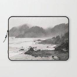 Pacific Ocean Beach Landscape Oregon Coast Northwest PNW Volcano Forest Nature Outdoors Basalt Wilde Laptop Sleeve