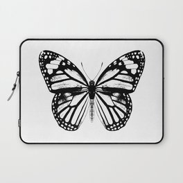 Monarch Butterfly | Black and White Laptop Sleeve