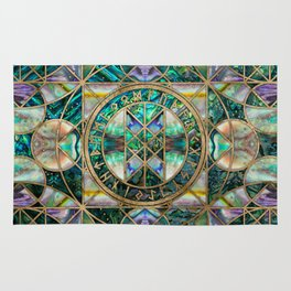 Web of Wyrd The Matrix of Fate -Abalone Shell Rug
