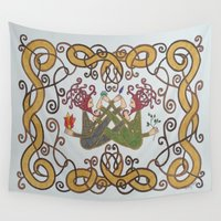 celtic Wall Tapestries featuring Celtic Balance by Erin Malbuisson-Delaney